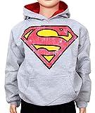 Superman - Sudadera con capucha - Blusa - para niño Gris gris