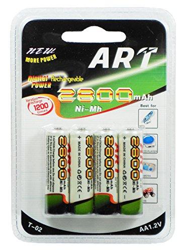 Galleria fotografica DOBO® 20 Batterie stilo AA ricaricabili 5 pacchetti 2800mAh 1.2V pile