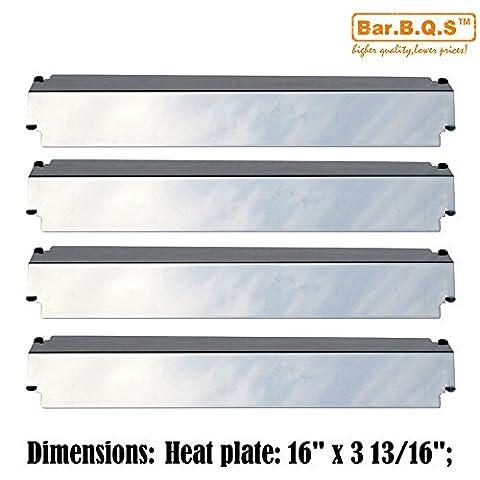 bar. b.q.s h93321(Lot de 4) en acier inoxydable Grill Chaleur Plaque de rechange pour Charbroil, Kenmore, Sears, Thermos, Lowes modèle grilles