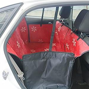 Accessoires de voyage de voiture super haute qualité Hot Sale Housse de siège d'auto étanche pour chien Housse de siège de chien de trois couleurs différentes Fourniture de fleurs.