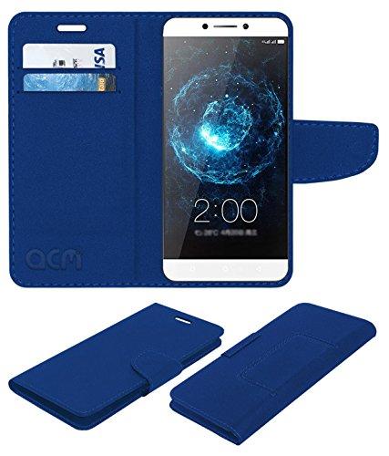 Acm Mobile Leather Flip Flap Wallet Case for Leeco Letv Le Max 2 Mobile Cover Blue