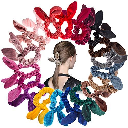 Orecchie di coniglio scrunchies 20 colori xpassion capelli scricchiolii fasce elastici nastri per capelli scrunchy cravatte capelli corde scrunchie morbido accessori per le donne ragazze