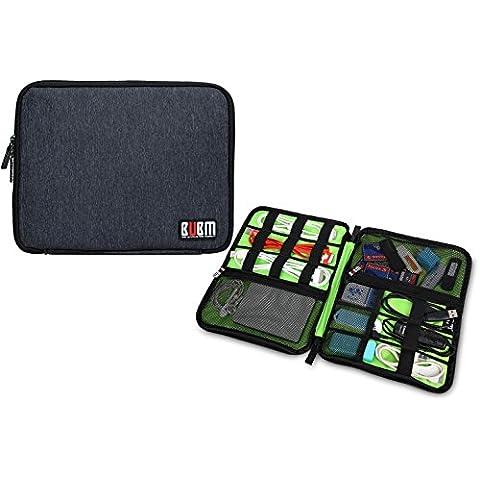 accessori Elettronica Borsa da viaggio/Cavo Organizer/Unità USB Navetta/Hard Drive Case/porta carte dis (L, Nero)