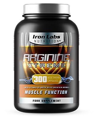 Arginine Xtreme XXL | L-Arginine (2,600mg) | Advanced Arginine supplement with 200mg L-Glutamine (Size: 300 Capsules, 75 Servings)