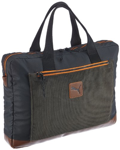 Puma Herren Laptoptasche Drift Laptop Bag, black-dark shadow-zinnia, 12 Liter, 071574 01
