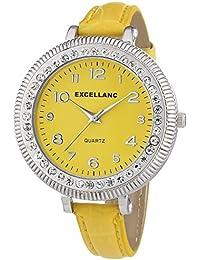 Excellanc Damen-Armbanduhr Analog Quarz verschiedene Materialien 193024500421