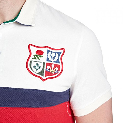 British   Irish Lions 1888 Panel Pique Rugby Polo Shirt – Vintage ... e698621d0