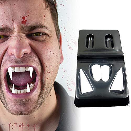 Kostüm Werwolf Vampir - Kbsin212 4 para Halloween Vampir Zähne Reißzähne Zähne Für Cosplay Requisiten Halloween Kostüm Requisiten Party (1,5 cm / 2 cm / 0,8 cm)