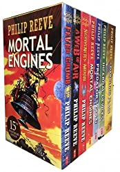 Philip Reeve Mortal Engines Predator Cities 7 Books Collection Pack Set RRP: £49.93 (Mortal Engines, Predator's Gold, Infernal Devices, A Darkling Plain, Fever Crumb, A Web of Air, Scrivener's Moon)