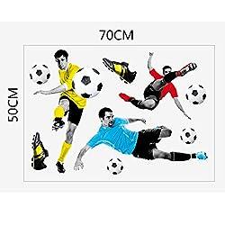 Generic 3D Play Football Soccer Wall Art Sticker Kids Bedroom Mural Wallpaper Decor