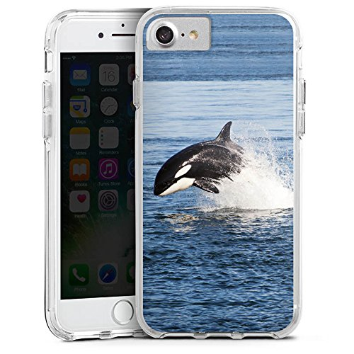 Apple iPhone 6s Plus Bumper Hülle Bumper Case Glitzer Hülle Schwertwal Orca Wal Bumper Case transparent