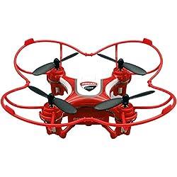 Mini Drone de Tres velocidades Flip & Rolls - con protección para hélices integrada y radiocomando Rojo