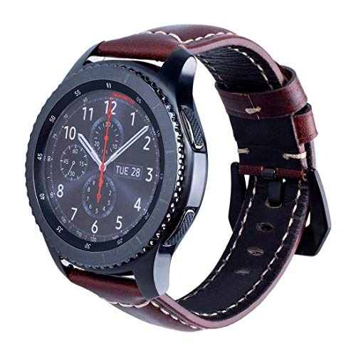 Price comparison product image For Samsung Gear S3, Diadia Fashion Sports Replacement Leather Replacement Watch Wrist Strap Band For Samsung Gear S3 Smart Watch (Brown)