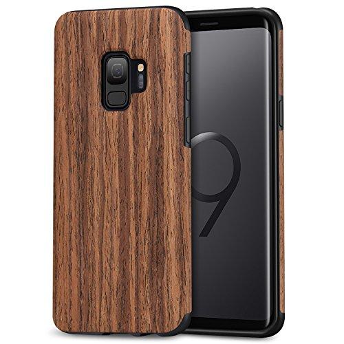 TENDLIN Samsung Galaxy S9 Hülle Holz Flexiblem TPU Silikon Hybrid Weiche Schutzhülle für Samsung Galaxy S9