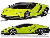 Picture Of Scalextric C3957 Green Lamborghini Centanario Slot Car