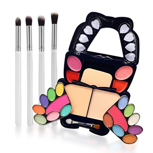 ESAILQ 2018 Newest Design Papillon de Smokey Ombre Fards à Paupières maquillage Correcteur Contour Palette + 4Pcs pinceau de maquillage (B)