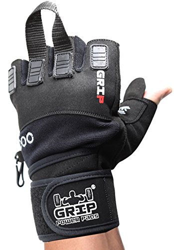 d2b8df1077c46 Grip Power Pads NOVA 2018 Gym Weight Lifting Gloves with Wrist Wraps  Support Pro Padded for