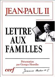 Lettre aux familles