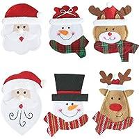 iWerDon portaposate Tuta 6pcs Babbo Natale Natale Decorazione della tavola 660b3931bacd