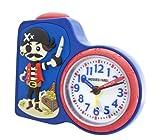 JACQUES FAREL Kinderwecker Jungen Pirat blau ohne Ticken
