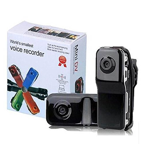 Mini DV MD80 Mini DV DVR Sports Video Recorder Hidden/Spy Camera Camcorder Webcam- Black, [UK Import]