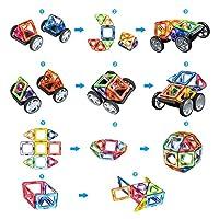 Bloques de construcción de Bloques magnéticos de 64 Piezas Juegos educativos para niños, de Morcare Construction Building Sets (64 pcs) de Morkka