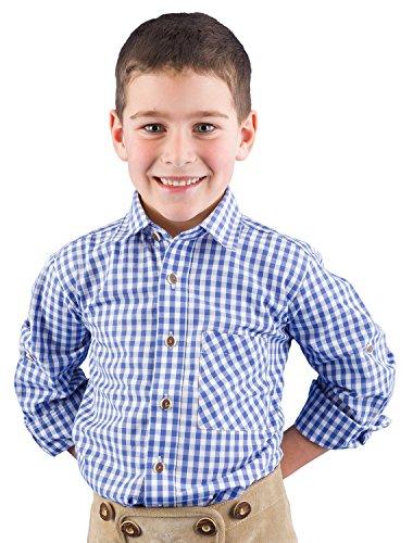 Ki. Trachtenhemd 52915 blau-karo, 164