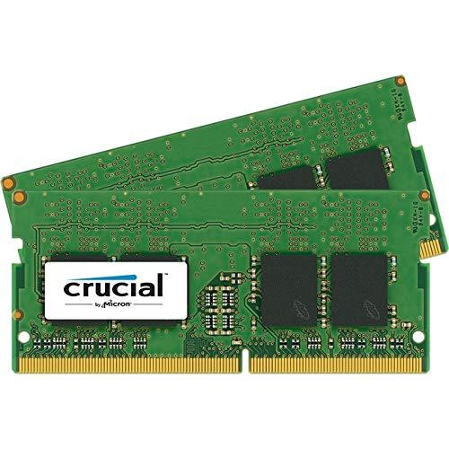 Crucial CT2K8G4SFD824A 16GB (8GB x2) Speicher Kit (DDR4, 2400 MT/s, PC4-19200, Dual Rank x8, SODIMM, 260-Pin)