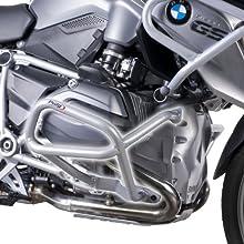 Puig 7543U Engine Guard Down per BMW R1200GS Till data 2014, colore: nero