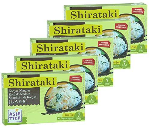 5er Pack - Shirataki Nudeln Spaghetti - Asiatica - (5 x 300g / ATG 200g)