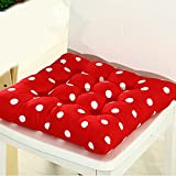 Tragbare weiche Polka Dots 41cm x 41cm Stuhl Seat Pads mit Kordel für Terrasse Home Auto Sofa Büro Tatami Dekoration Free Size rot