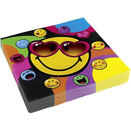 Amscan nbsp;–552428–20Servietten Smiley Express–33x 33cm