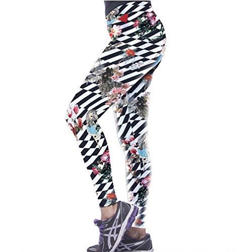 Thenice - Legging - Femme multicolore Multicoloured taille unique Anime girl