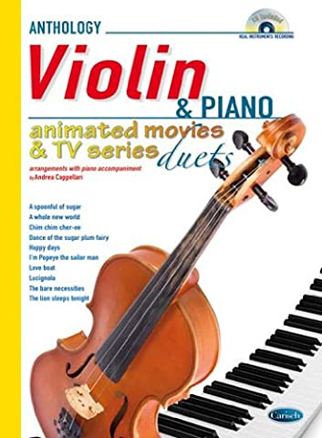 Animated Movies and TV Duets for Violin and Piano +CD