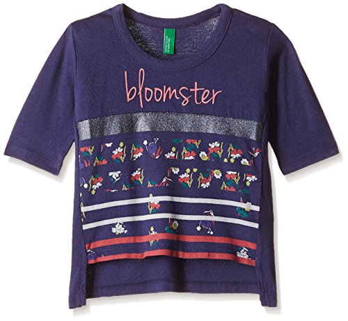 United Colors of Benetton Baby Girls' T-Shirt (16A3CTMC0090IK320Y_Royal Blue_0Y)