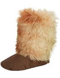 Woolsies Coyote Wool Slipper Booties - pantuflas con forro cálido de sintético mujer, color marrón, talla 43