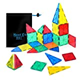 NextX Pädagogische Bausteine Sets, Magnetische Bauklötze Magnetspielzeug Weihnachtsgeschenk für Jungen und Mädchen ab 3 Jahren (32-Stück)
