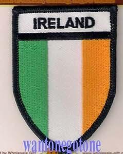 Ecusson thermocollant Irlande pour badge Patch à coudre ou repasser, idéal pour les vêtements, sacs, etc.