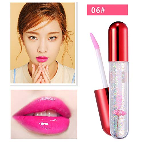 Dtuta Lippenstifte, Frau Wasserdicht GeleeblüTen äNdernde Farbe, TemperaturäNderung Feuchtigkeitsspendend