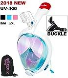 X-Lounger Vollgesichts Schnorchelmaske UV-Schutz 4.0 Innovative faltbare Schnorchelausrüstung mit abnehmbarer