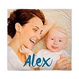 Lolapix Personalisierte Decke für Baby mit Ihrem Foto, Zeichnung oder Text. EIN einzigartiges, originelles Geschenk für Neugeborene.