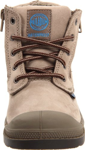 Palladium Pampa Hi Leather Gusset Kids Dust / Chocolate - Unisex - Kinder Beige
