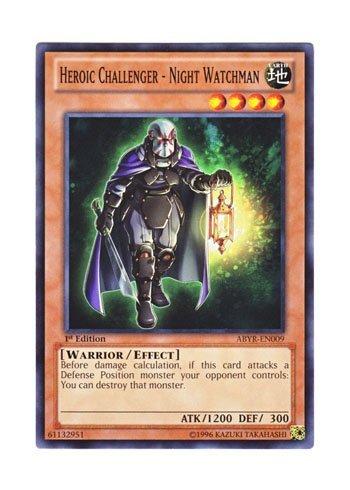 Yu-Gi-Oh Englisch abyr-en009heldenhaften Challenger-Nachtwächter H? C Night Attack of Gardeco Cantera (Normal) 1. Edition