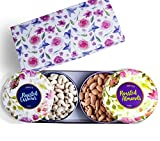 #6: NEW ARRIVAL Premium Gift Box - Almonds & Cashews (Roasted) - 400g ( 2 Bowl Tins)