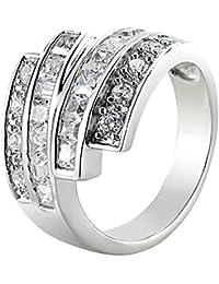 St. Leonhard Breiter Silber-Ring mit Zirkonia, Größe 54 (Ø 17,2 mm)