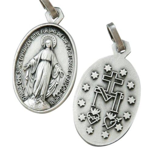 MaMeMi oxydierte Medaille MiraculeuseRückseite 'Gott schütze Dich'1,9 (Ein Geschenk Von Gott Kostüm)
