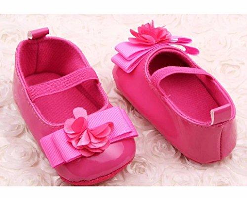 BZLine® Leder Babyschuhe weiche Baby Jungen und Mädchen Schuhe Hot Pink