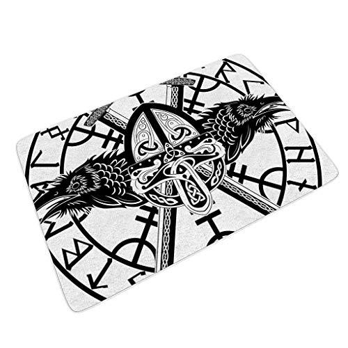 Homedb - Felpudo diseño runas vikingas Impresas Interior