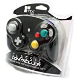 Manette vibrante Noire pour console Nintendo Gamecube