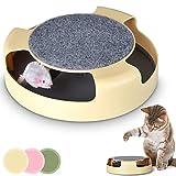 Leopet Katzenspielzeug Katzenkarussel Spielzeug für Katzen mit rotierender Maus und Kratzbereich in der Farbe Ihrer Wahl